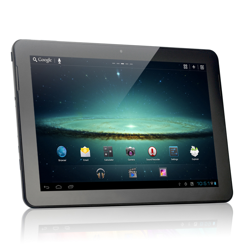 "Android 4.0 Tablet ""Starlight"" - 10.1 Inch HD Screen, 1.6Ghz Dual Core, 32GB (Black) OA1703"